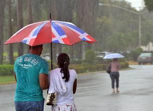 Resultado de imagen para lluvia en santo domingo